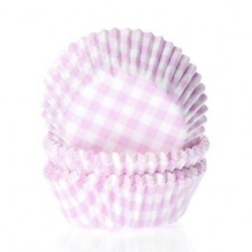 Capsulas mini cupcakes Vichy Rosa HoM