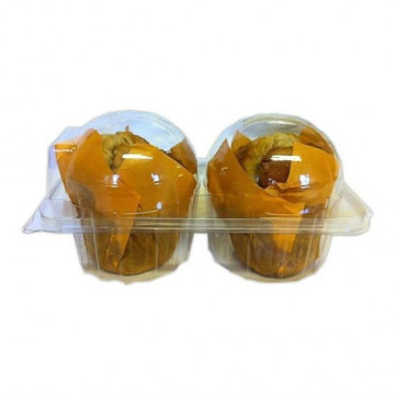 Caja transparente para 2 muffins/cupcakes
