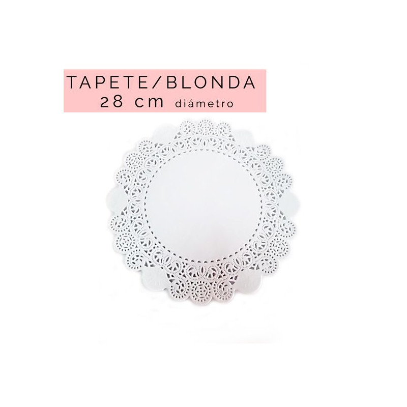 Pack de 20 blondas redondas 15 cm [CLONE] [CLONE] [CLONE] [CLONE]