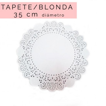 Pack de 5 blondas redondas 35 cm