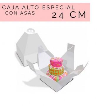 Caja para tartas Alto Especial con Asas 24 cm
