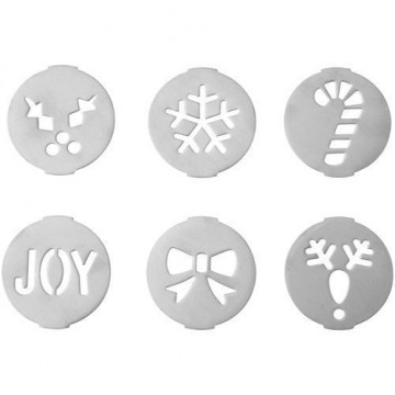 Pack de 6 discos Navidad para Maquina Galletas Cookie Press Wilton