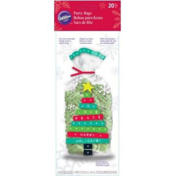 Pack de 20 bolsas Árbol de Navidad Wilton