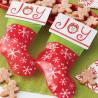 Pack de 6 bolsas + etiquetas Calcetín Navidad Wilton