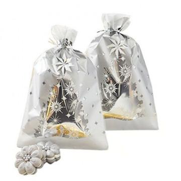 Pack de 8 bolsas plateadas Árbol de Navidad Wilton