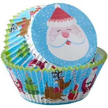 Cápsulas cupcakes Papa Noel Vintage Wilton