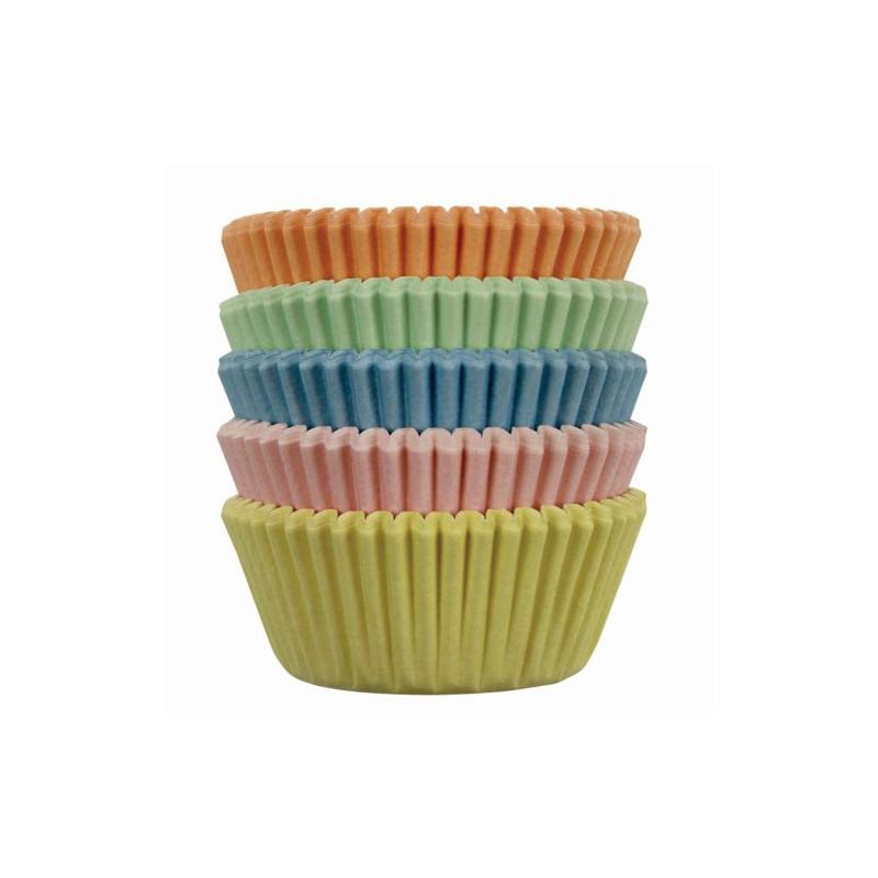 Cápsulas mini cupcakes colores pasteles 100 unidades PME