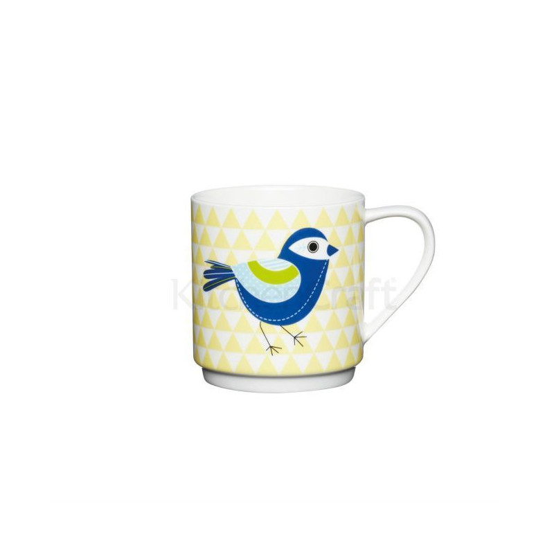 Taza con asa Pajaro con Rayas Azul Kitchen Craft [CLONE] [CLONE]