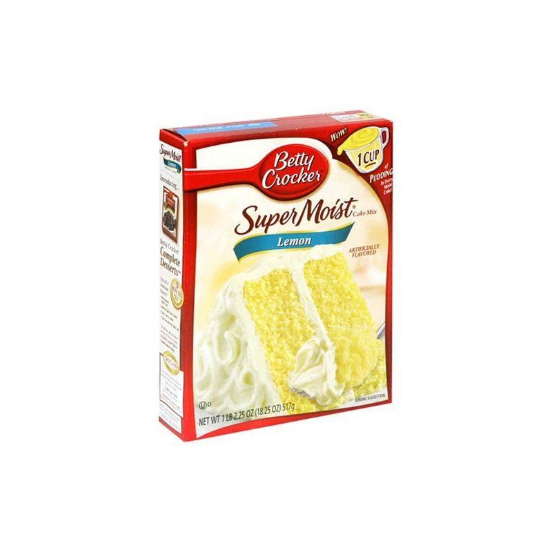 Mix de bizcocho Super Moist Lemon Cake Mix Betty Crocker