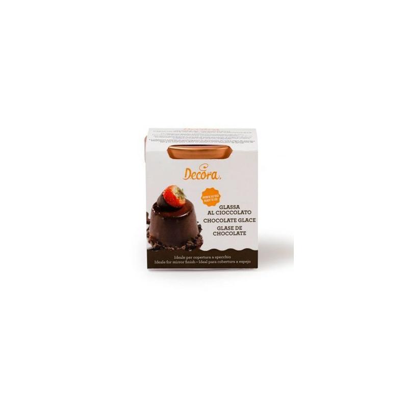 Glaseado espejo listo para usar de Chocolate 250 gr Decora Italia