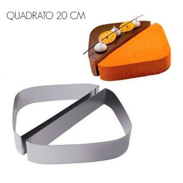 Kit de 2 aros de pastelería Molde Quadrato 20 cm Martellato