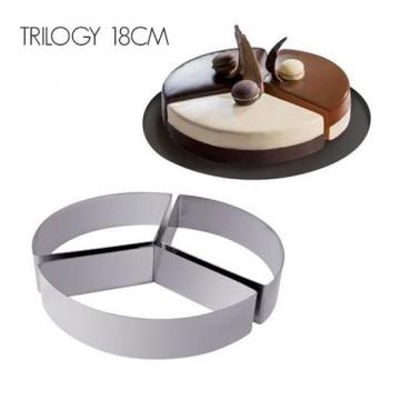 Kit de 3 aros de pastelería Molde Trilogy Tondo 18 cm Martellato