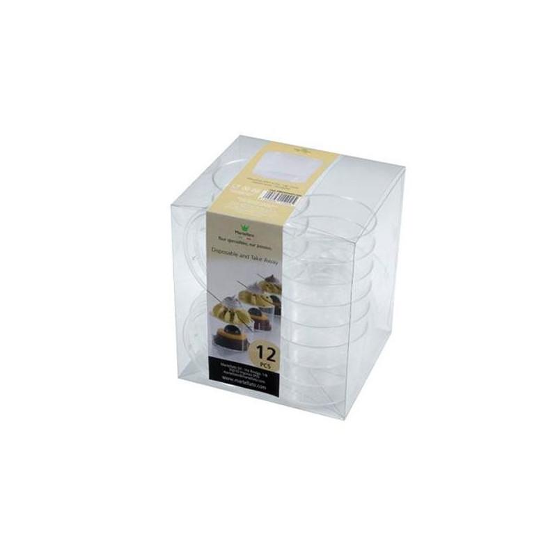 Pack de 12 vasitos de postre con tapa Martellato