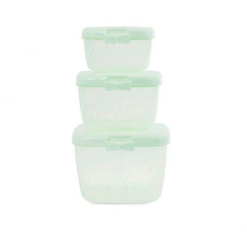 Pack de 3 Tuppers tapa verde Miss etoile