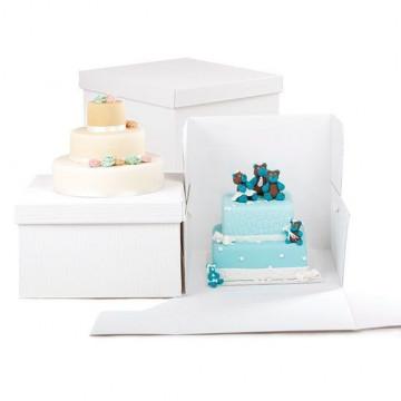 Caja gruesa para tartas 25 x 25 x 20 cm