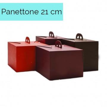 Caja para Panettone Roja Regalo 21 cm
