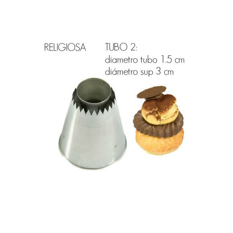 Boquilla para religiosas Tubo 1 Silikomart [CLONE]