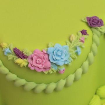 Molde de silicona Guirnalda de Flores Katy Sue