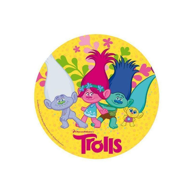 Papel de azúcar de 20 cm Trolls