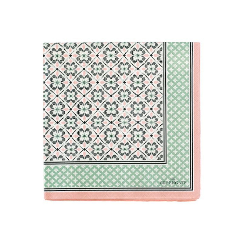 Servilleta de papel Lamia Peach Green Gate