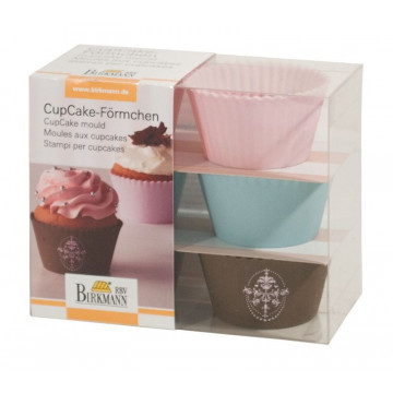Molde Cupcakes silicona Romantic Birkmann