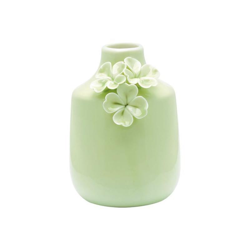 Jarrón de cerámica con flores Verde Green Gate