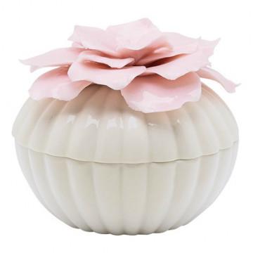 Joyero de cerámica Crema con Flor Rosa Green Gate