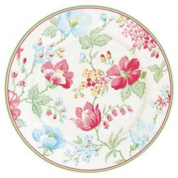 Plato de cerámica Donna White Green Gate