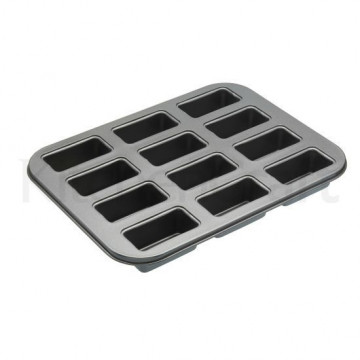 Molde 12 cavidades mini rectangular base desmoldable Master Class