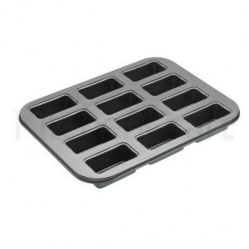 Molde 12 cavidades mini rectangular base desmoldable Master Class