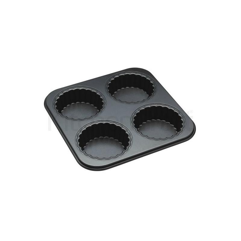 Molde 4 cavidades Tartaletas con base desmoldable Master Class