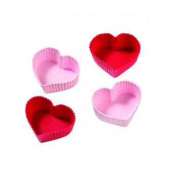 Molde Cupcakes silicona Corazón Birkmann