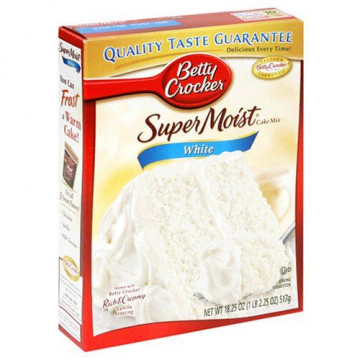 Preparado de bizcocho Blanco Betty Crocker