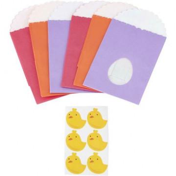 Pack de 6 bolsas de papel Pascua Wilton
