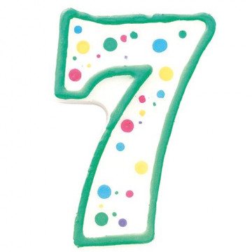 Vela nº 7 cumpleaños Wilton