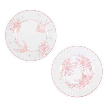 Platos de fiesta Grande Porcelana Rosa