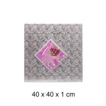 Bandeja de presentación 25 x 1 cm Plata Flores [CLONE] [CLONE] [CLONE] [CLONE]
