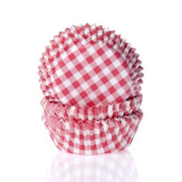 Capsulas mini cupcakes Vichy Rojo HoM