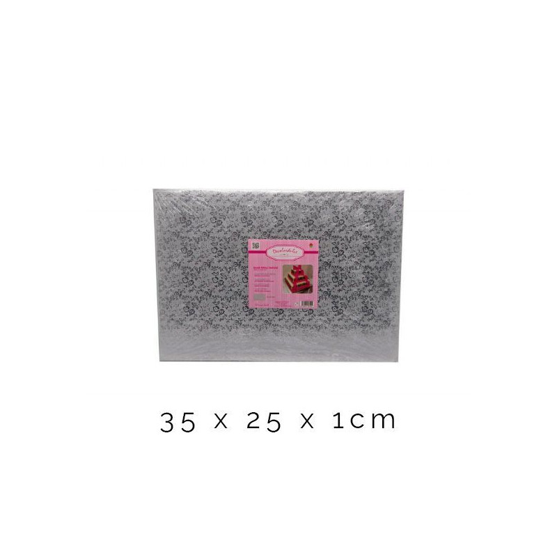 Bandeja de presentación 25 x 1 cm Plata Flores [CLONE] [CLONE] [CLONE] [CLONE] [CLONE]