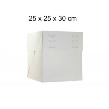 Caja para tartas de 25 cm con altura ajustable