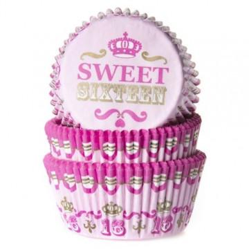 Capsulas cupcakes Sweet Sixteen HoM