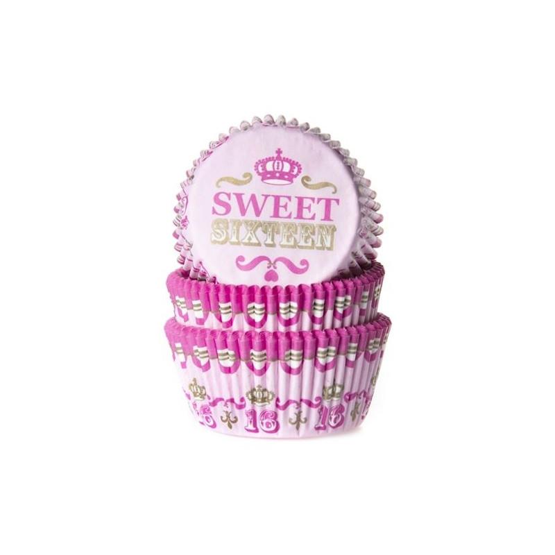 Cápsulas cupcakes Sweet Sixteen House of Marie.