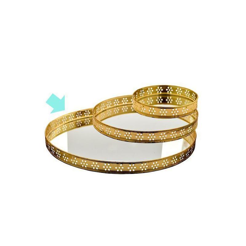 Bandeja redonda pequeña con borde de oro y espejo Green Gate [CLONE] [CLONE]