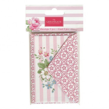Pack de sobres y tarjetas Marie Pale Pink Green Gate