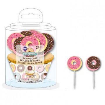 Set para cupcakes Donuts Wilton