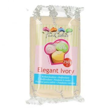 Fondant marfil elegant ivory Funcakes 250 gr