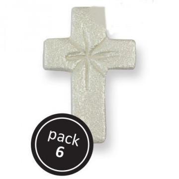 Pack de 6 decoraciones comestibles Cruz PME