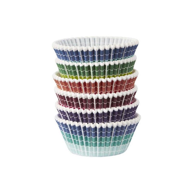 Pack de 150 cápsulas para cupcakes rayas pixel wilton