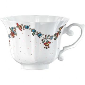 Taza con asa guirnalda de flores V&A Toile