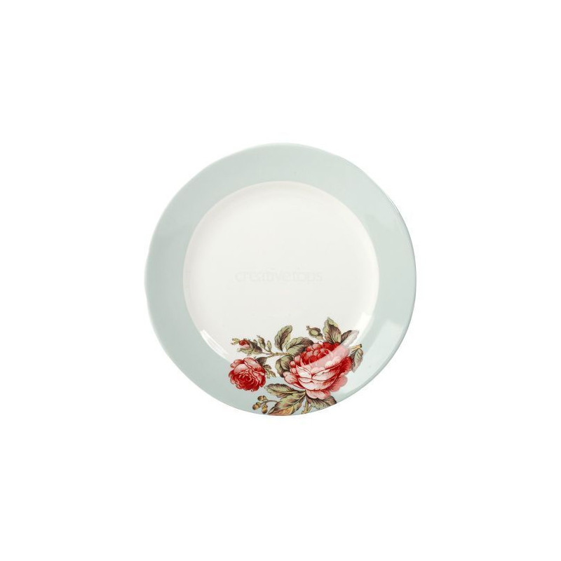 Plato de cerámica Rosa V&A Toile